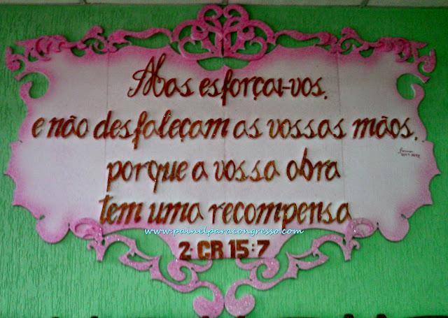 pintura em isopor   Congresso de senhoras    /   2º Crônicas 15:7