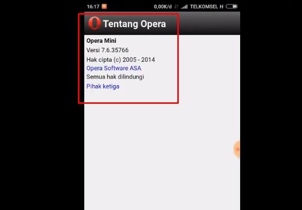 Cara Setting Opera Mini Handler Apk Telkomsel