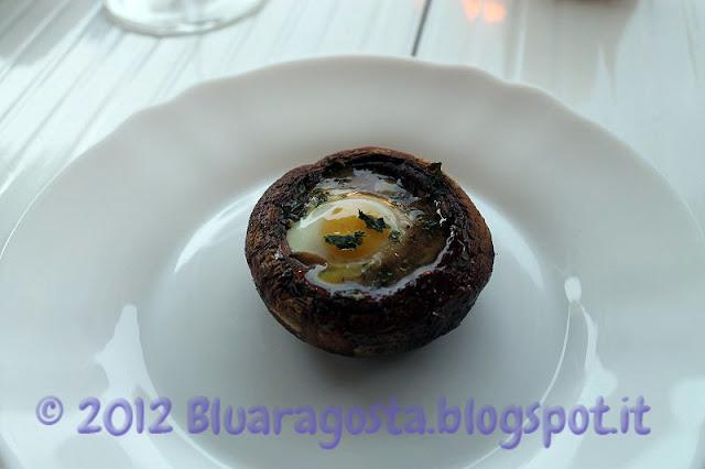 Champignon con uovo di quaglia