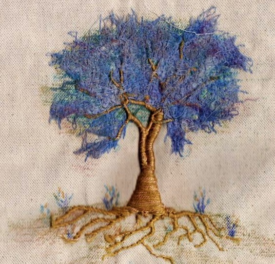 drzewa haftowane