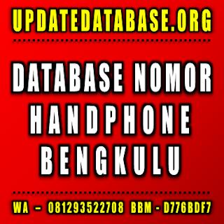 Jual Database Nomor Handphone Bengkulu