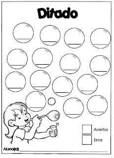 Ditado modelo bolhas de sabão