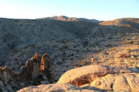 View north from an outcropping along the east canyon rim, Desert Queen Mine, Joshua Tree National Park