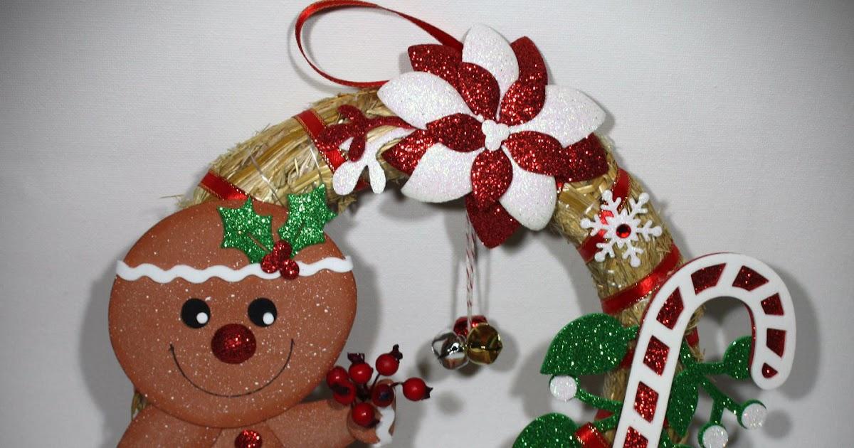 My sweet blog ghirlanda di natale con decorazioni in for Idee di gomma garten