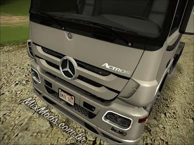 gta sa mod caminhão brasileiro mercedes benz actros 2646 leve ivf