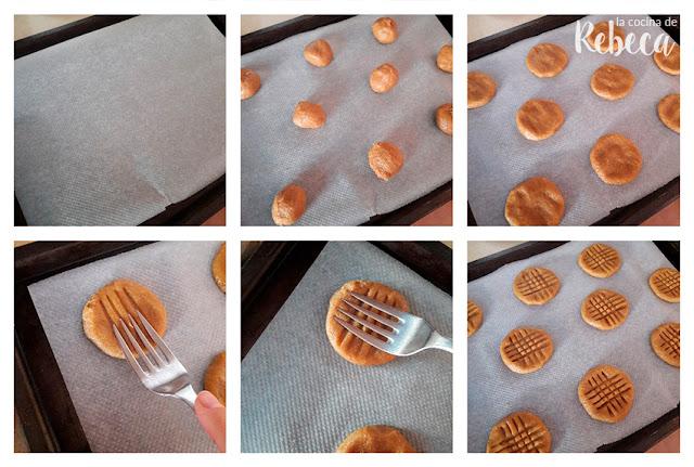 Receta de galletas de chocolate y cacahuete: el formado
