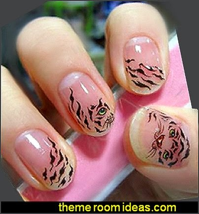 Animal Print Tiger Strips Nail Art Water Slide Decal Sticker-nail art