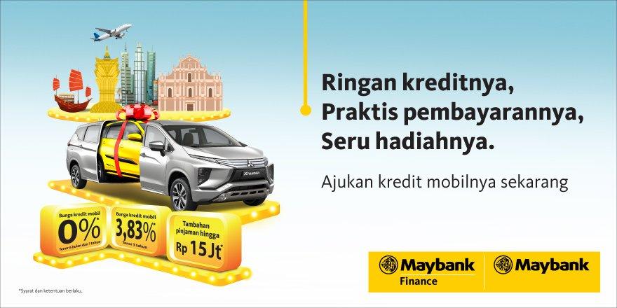 Bank Maybank - Kredit Mobil, Berhadiah Mobil + Pinjaman Bunga 0%