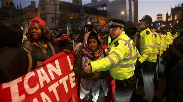 UK: Tensions flare as London protesters rally against Libya slavery
