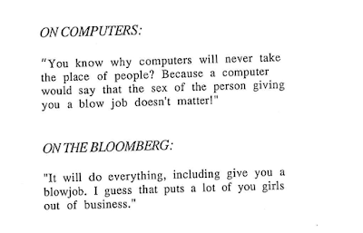 As Mike Bloomberg celebrated his 48th birthday in 1990, a top aide at the company he founded presented him with a booklet of profane, sexist quotes she attributed to him.