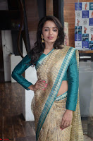 Tejaswi Madivada looks super cute in Saree at V care fund raising event COLORS ~  Exclusive 027.JPG
