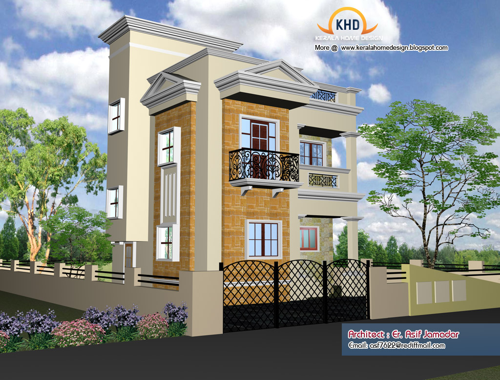 N Small Home Elevation Photos : Home elevation design kerala and floor plans