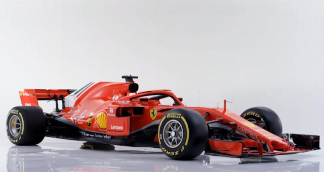 Ferrari divulga o SF71H para a F1 de 2018