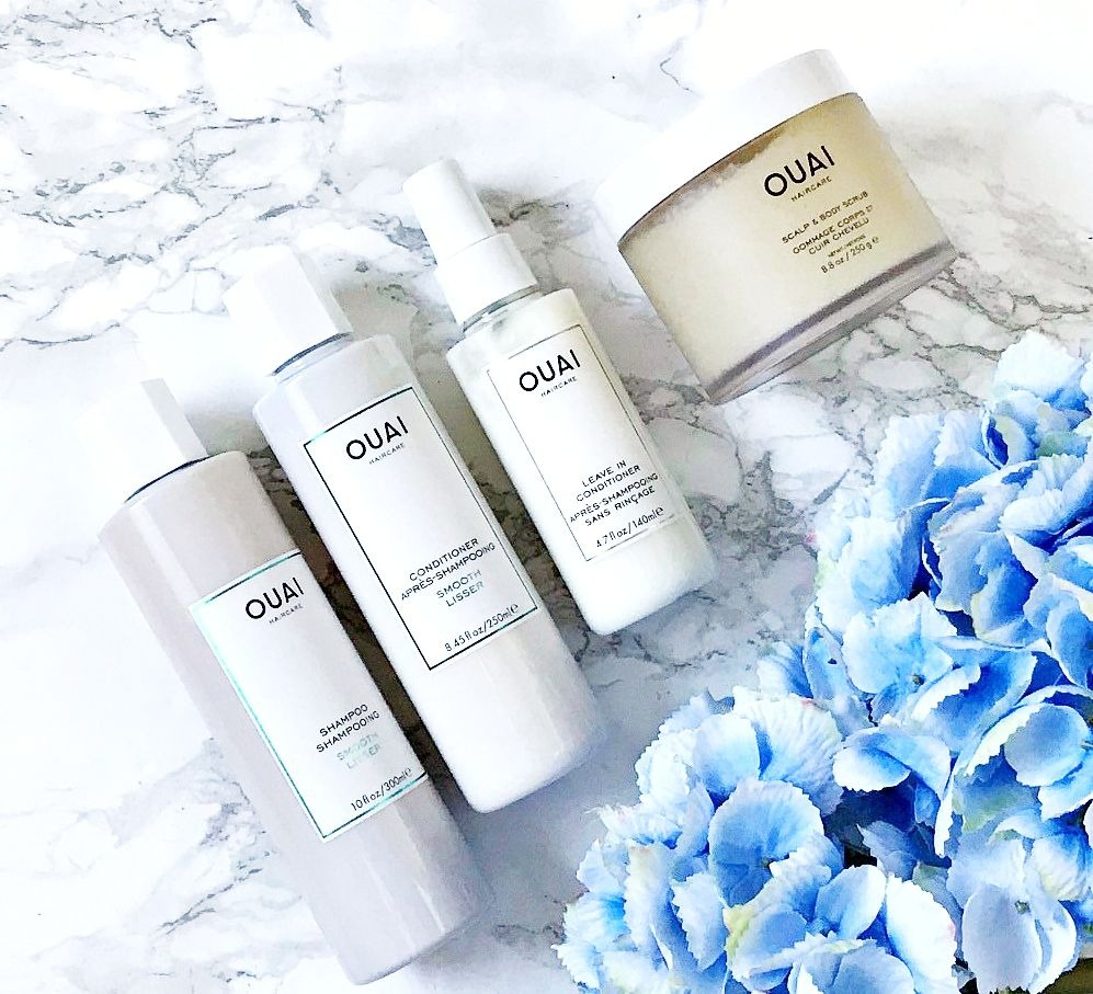 Ouai Scalp & Body Scrub Review, Ouai Smooth Shampoo review, Ouai Smooth Conditioner review, Ouai Leave In Conditioner review