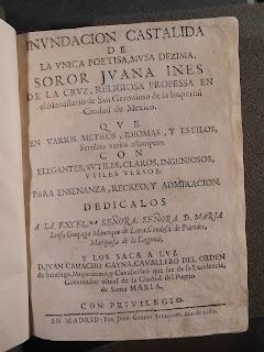 "A title page for ""Inundación castálida."""