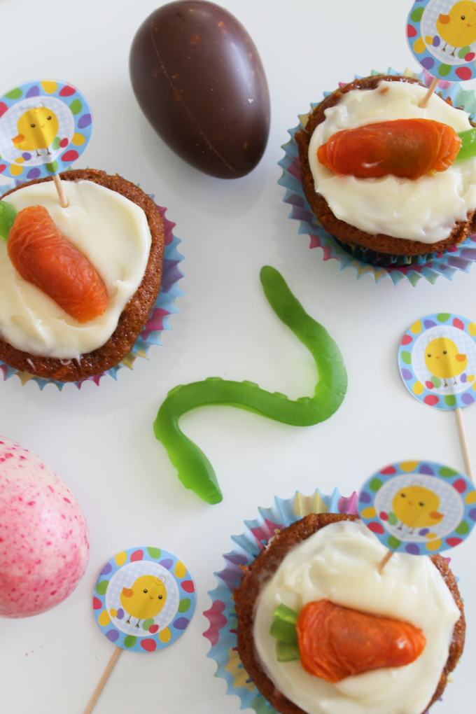 The Easter Bunny's Carrot Cupcakes! | Cate Renée