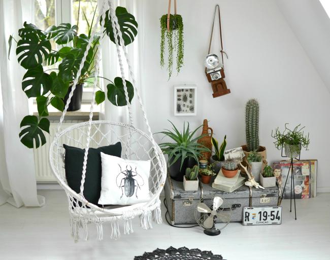 Boho,Hängesessel,Urban Jungle,Pflanzenstyling