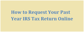 Online Request on www.irs.gov