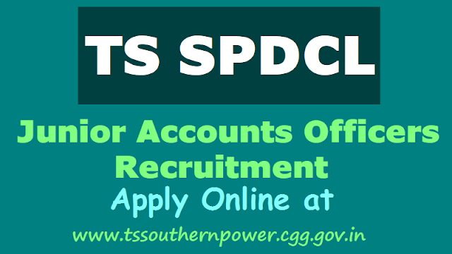 tsspdcl junior accounts officers(jao) recruitment 2018,ts southernpower jao recruitment online application form,tsspdcl jaos recruitment 2018 hall tickets results selection list results