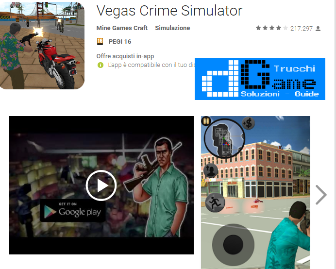 Trucchi Vegas Gangsters Mod Apk Android v3.0