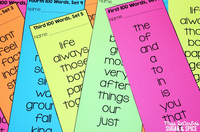 Sight Word Recognition Editable Templates