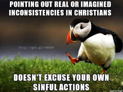 Unpopular opinion puffin poining out problems in others does not excuse you
