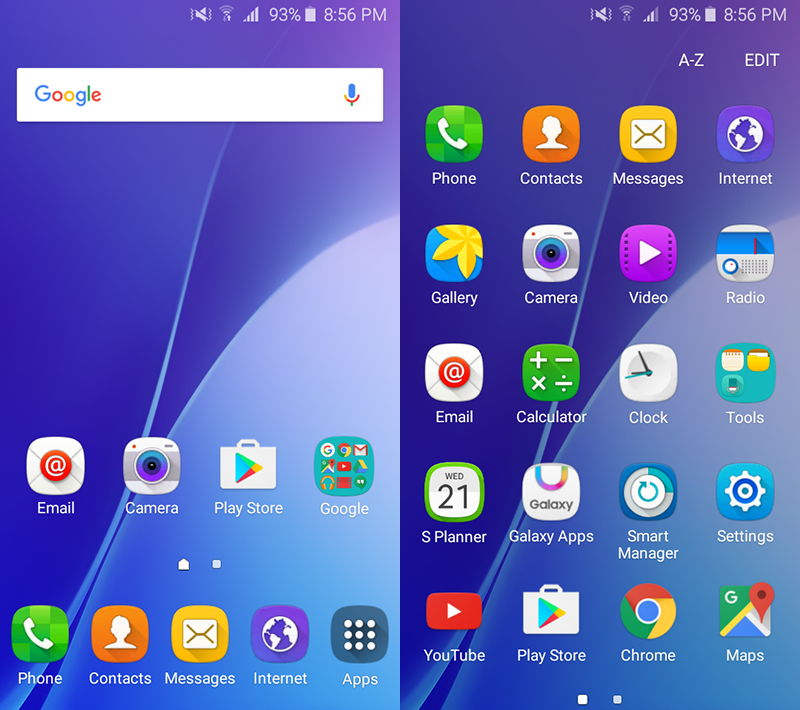 TouchWiz UI on Android 5.1 Lollipop OS