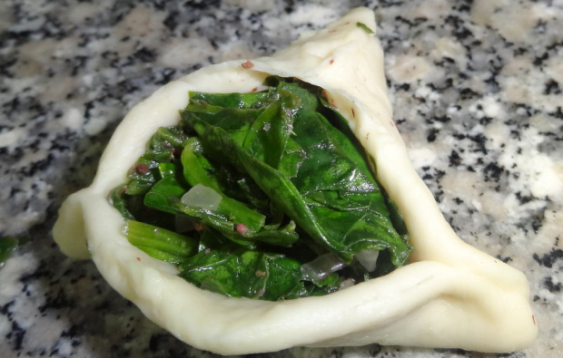 Spinach Fatayer Filled