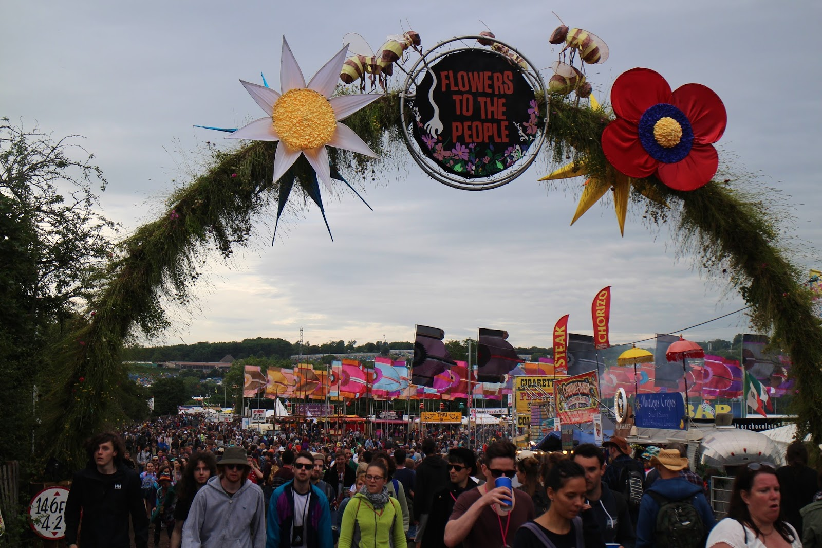 Glastonbury - Greenfields and Avalon 'Flowers to the People'