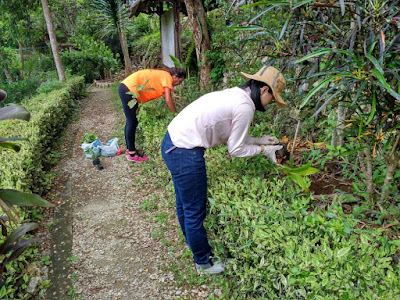 Patricia durante su voluntariado medioambiental en Bali.
