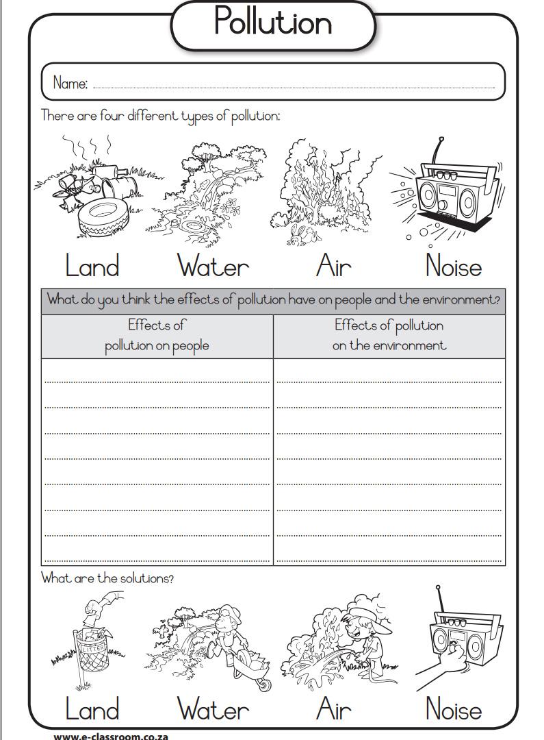 Printables. Water Pollution Worksheet. Happywheelsfreak ...