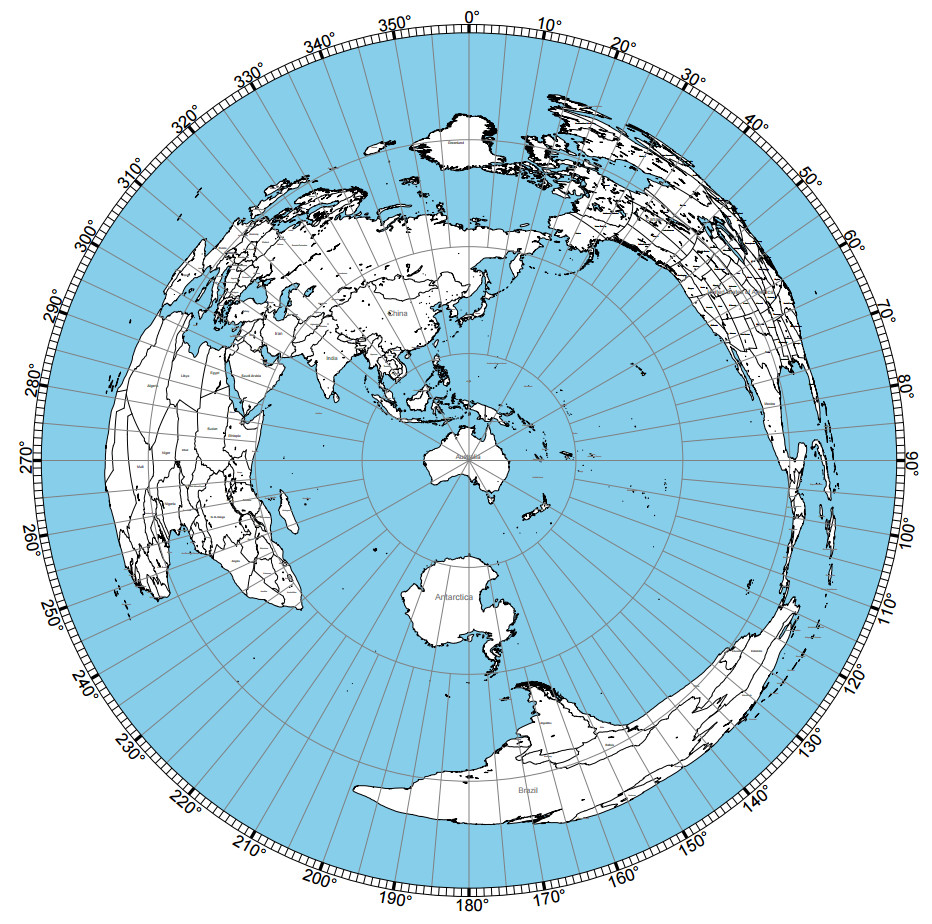 Jawannacuputty An Accurate Flat Earth Map Of The World