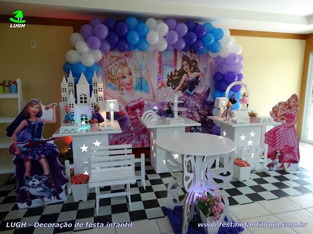 Decoração infantil tema da Barbie Pop Star - festa de aniversário - Barra (RJ)