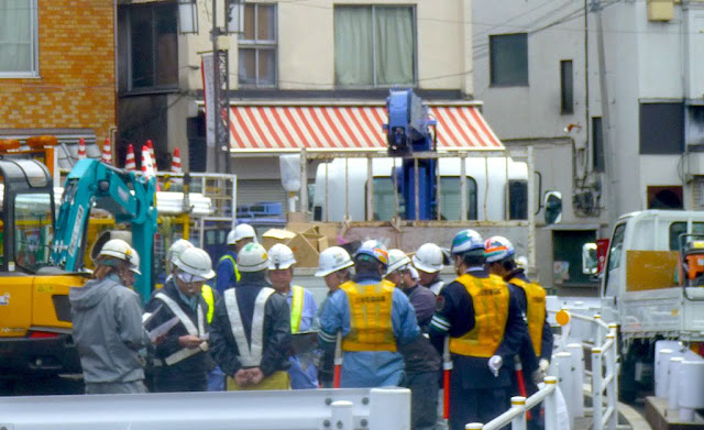 Construction workers in Japan