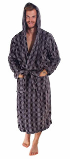 Man's Hooded Bath Robe