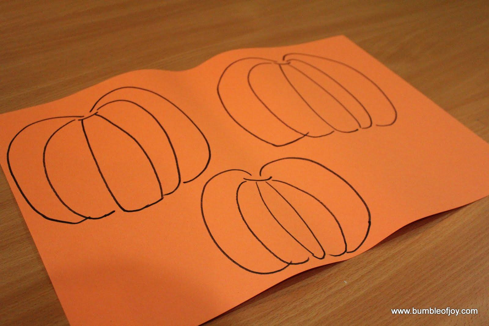 Bumble Of Joy Paper Pumpkin Craft