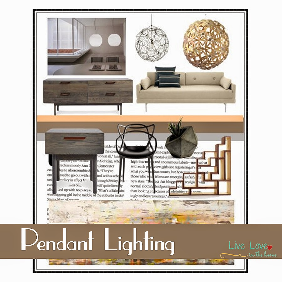 Pendant Lighting, interior design collection.