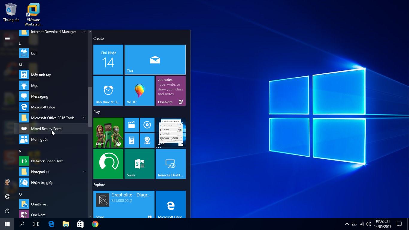 Hướng dẫn gỡ bỏ ứng dụng Mixed Reality Portal trong Windows 10 version 1703
