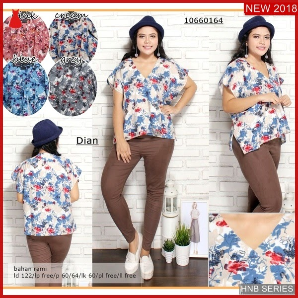 HNB195 Model Blouse Big Size Atasan Batik Ukuran BMG Shop