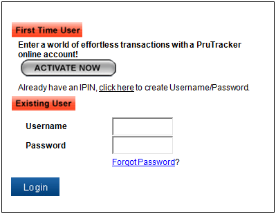 ICICI Prudential Mutual Fund Login Page