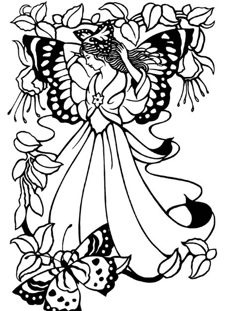 Mimi's Pixie Corner: Fairies! Free Coloring Pages!