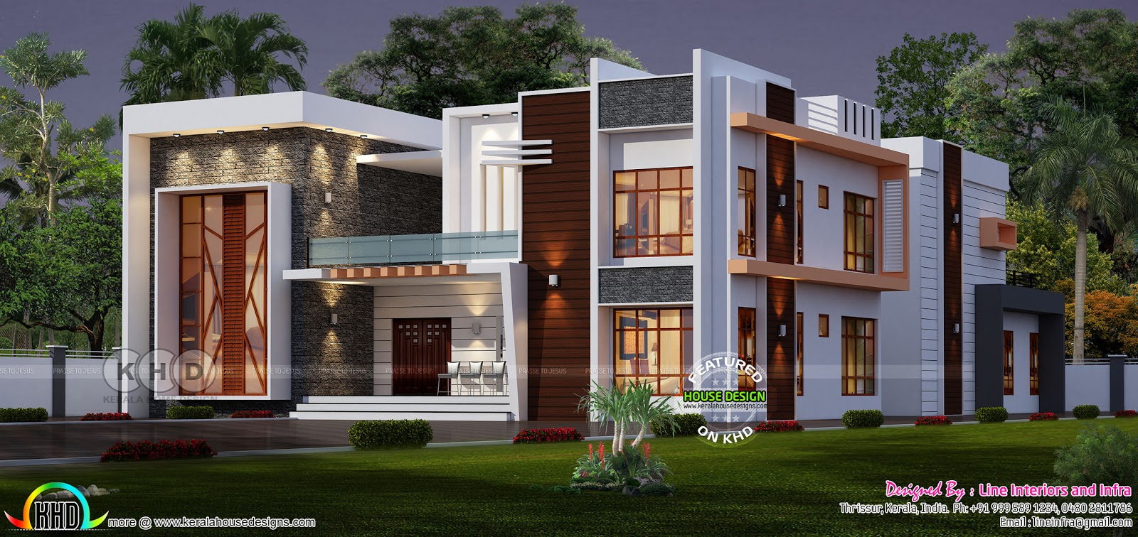 Elevated contemporary home plan kerala home design and for House plans elevated
