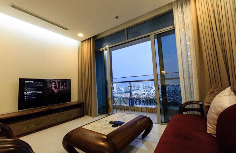 Park 4 Vinhomes cho thuê căn hộ 4 phòng ngủ view trực diện công viên | tivi tại phòng khách