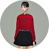 Crop Sweatshirt With Shirt_크롭 스웻셔츠와 셔츠_여자 의상
