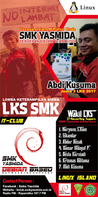 Desain Banner Roll Up Lomba LKS SMK Yasmida