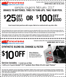 free Firestone coupons february 2017
