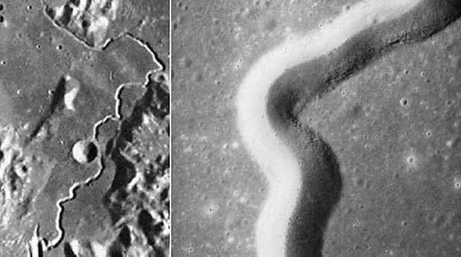 Misteriosos túneles han sido encontradas en la superficie de la Luna