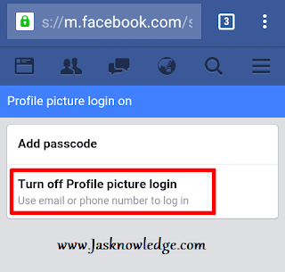 turn off profile picture login
