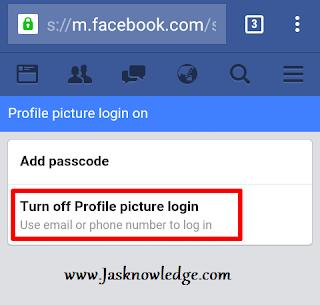 turn off profile picture login