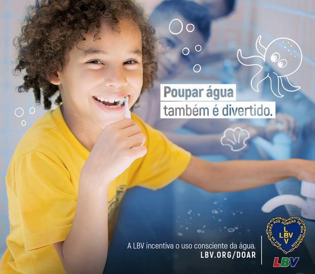 Campanha educativa da LBV alerta para o desperdício de água